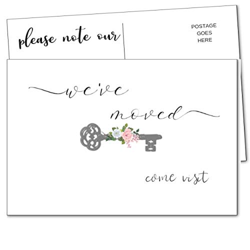 Weve Moved Postcards, We Have Just Moved Announcements Note Cards Moving Announcement Postcards Fill in the Blank Change of New Address-Weve Moved Cards-Set of 50