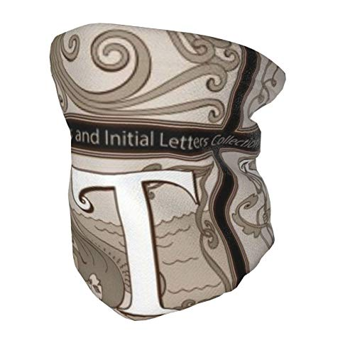 Bufanda de mascarilla para niños, una colección de miniaturas e iniciales de cuento de hadas, polaina de cuello elástico alto, máscara de esquí, pañuelos, pasamontañas lavable y reutilizable para niño