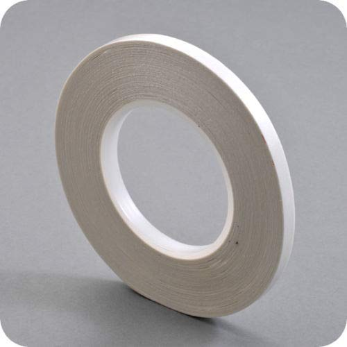 Doppelseitiges Klebeband 50 M - Breite 3 mm -handreißbar - transparent - perfekt zum basteln - stark haftend — optimal für Papier, Stoffe, Aluminium, Metall, Holz Glas, Keramik -Top Anfangshaftung