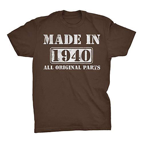 79th Geburtstags-Geschenk-T-Shirt - Made in 1940 Alle Originalteile, Klein, Zartbitterschokolade