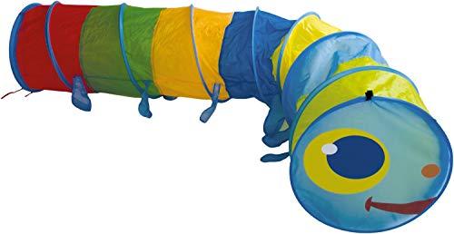 Bieco XXL Krabbeltunnel ab 1 Jahr | 250 x 46 cm | Spieltunnel Kind und...