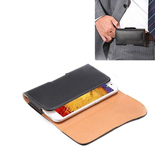 Funda Galaxy Funda de Cuero de Flip Vertical de Textura de Caballo Locoy Bolso de Cintura con tablilla Trasera y diseño de Arco para Samsung Galaxy Note 3 / N900