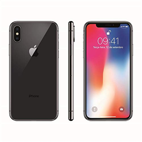 Iphone X Apple 64GB Cinza Espacial Tela Super Retina Hd Oled 5.8 iOS 11 Câmeras De 12MP Mqac2Bz/A