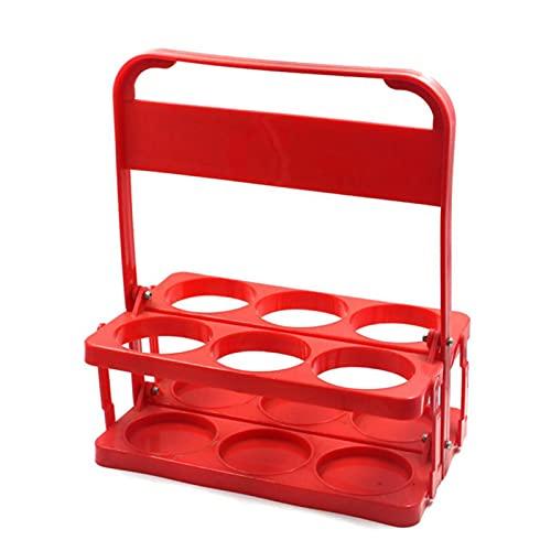 IrahdBowen Portabotellas Básico Portabotellas De Cerveza Portabotellas Plegable Portabotellas Portavasos con 6 Compartimentos Ideal para Catering, Restaurantes, Plástico Sin BPA (Rojo) skilful