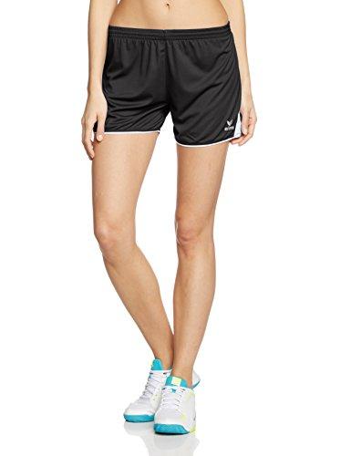 Erima Damen Classic 5-C Shorts, Schwarz/Weiß, 36