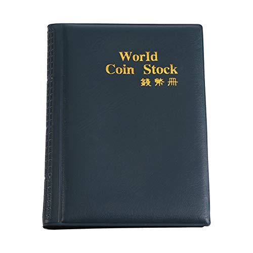 Operalie Libro de colección de Monedas, World Carpeta de Almacenamiento de Monedas Álbum Soporte de recolección de Dinero Libro de 120 Bolsillos 10 páginas Ideal para coleccionista de moned(Verde)