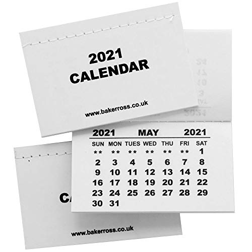 Baker Ross AX551 Mini Kalenderblöcke 2021-10 Stück, Neujahrskunst und Wandplaner für Kinder zum Dekorieren und Ausstellen