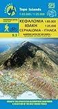 Cephalonia 1 : 65 000 - Ithaca 1 : 25 000: Topografische Wanderkarte 9.3