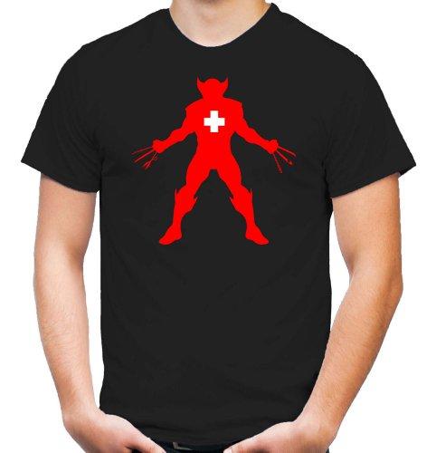 Wolverine Taschenmesser T-Shirt | X-Men | Logan | Kult | Fun (L)