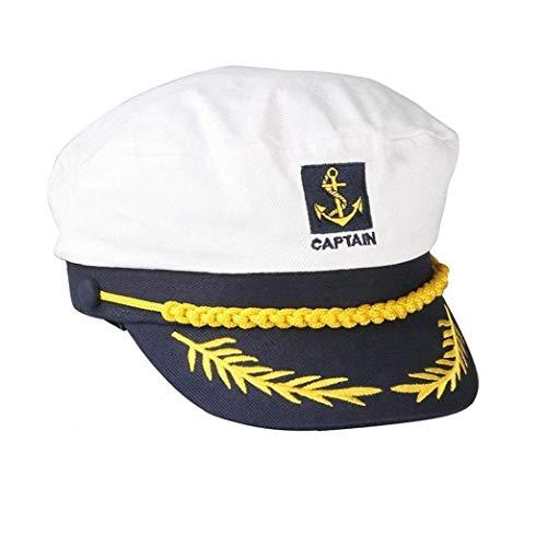 Casecover Sailors Hat Kapitän Yacht Segler-Hut-Hysterese Admiral-Art-Hut Adjustable Schiff Sailor Cap