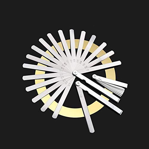 BAWAQAF Fühlerlehre, Digitale Dickenlehre 0,02-1 mm 32 Stück Blechdickenabstandsmetrik, Fühlerlehre aus Edelstahl, Dickenmesswerkzeug