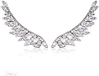 Wings of Angel Ear Cuff Orris Sterling Silver Earring Wrap Stud Set