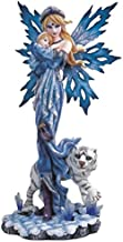 StealStreet Blue Fairy with Baby and White Tiger Collectible Figurine Decoration