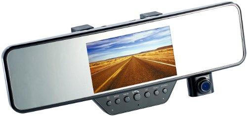 NavGear HD-Rückspiegel-Dashcam & Freisprecheinrichtung mit Bluetooth, G-Sensor