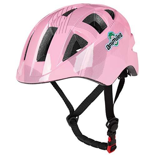 animiles Kids Bike Helmet, Toddler Helmet Adjustable Ventilation Impact Resistance for Kid 3-5/5-8 Years,Youth Boys Girls (Pink)