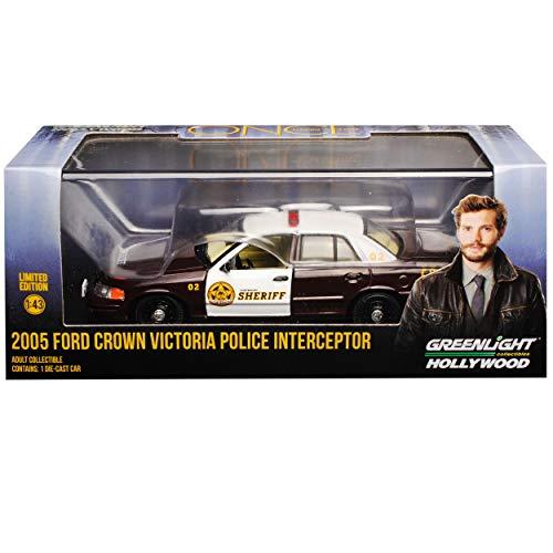 Greenlight Ford Crown Victoria Police Polizei Interceptor Sheriff Es war einmal 2. Generation 1997-2011 1/43 Modell Auto mit individiuellem Wunschkennzeichen