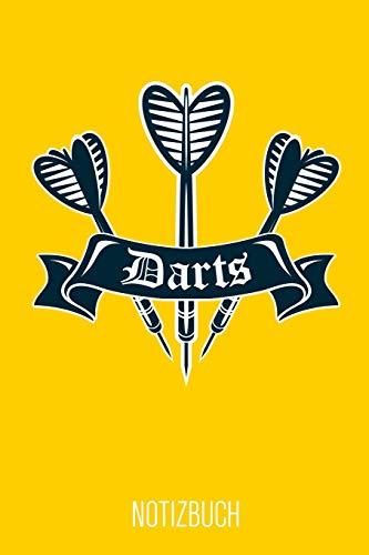 Darts Notizbuch: Gelbes Punktraster Dart Notizheft für Dartspieler ca DIN A5 weiß punktiert 110 Seiten