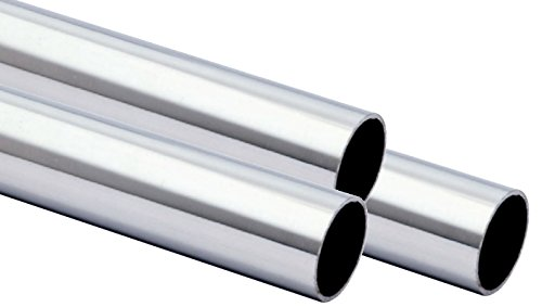 Edelstahlrohr geschw. 33.7 x 2mm 1.4301 240 Korn geschliffen von 100-3000mm 3000