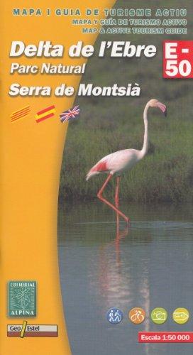 Delta dell'Ebro (PN Delta de l'Ebre) 1:50.000 mappa e guida per escursioni a piedi e in bicicletta (Spagna, Catalogna)