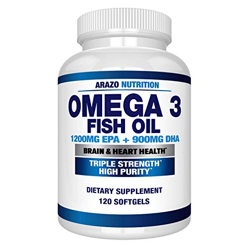 top rated Omega 3 Fish Oil 4,080 mg – 1200 mg High EPA + 900 mg DHA Capsules, 3x Stronger Without Burp – Arazo… 2020