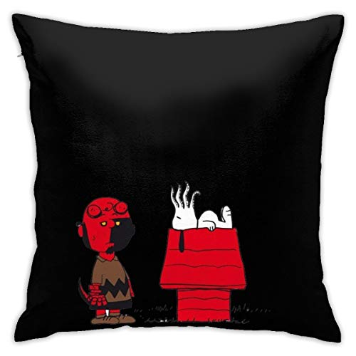 GmCslve Cartoon Snoopy Star Wars Square Pillow Case Zippered 18x18 Inches Cushion Case Home Decor for Car Sofa Bed Couch