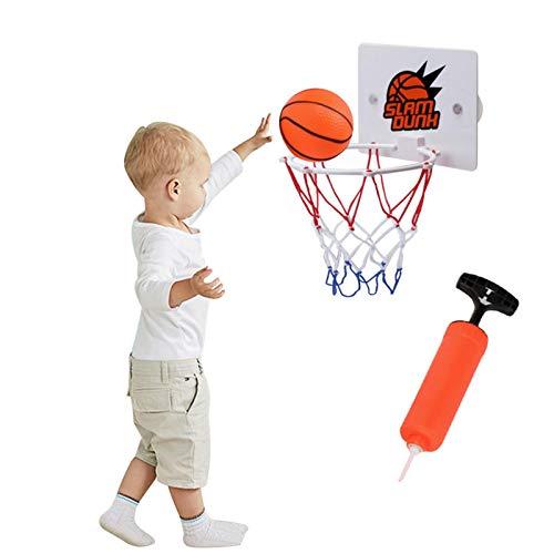 Basketballkorb fürs Zimmer, im Set mit Ball und Luftpumpe, Backboard zum an die Tür hängen, Basketballkorb fürs Zimmer Mini Basketball Kinder Sport Outdoor Indoor Basketballkorb Spielzeug