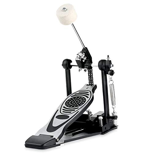 Bass drum pedal,Double Chain Drum Step on Hammer,Single Bass Drum Pedal come with Drum Beater Stick