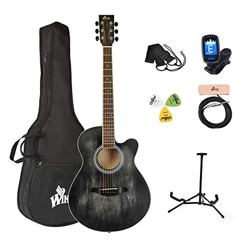Winzz Akustikgitarre Schwarz Bild