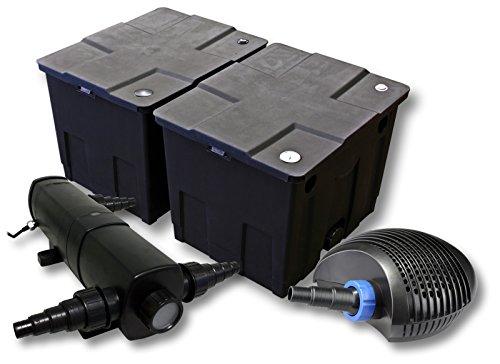 SunSun Filter Set für 60000l Teich mit 36W Teichklärer und 40W ECO Pumpe
