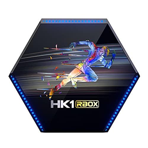 Kaxofang HK1 RBOX R2 TV Box 4 + 128G RK3566 Cuatro Nucleos Android 11 2.4G / 5G WiFi de Doble Banda 4.1 Caja de TV Inteligente (Enchufe de la UE)