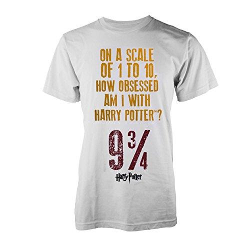 Plastic Head Harry Potter Obsessed T-Shirt, Blanc (White), M Homme