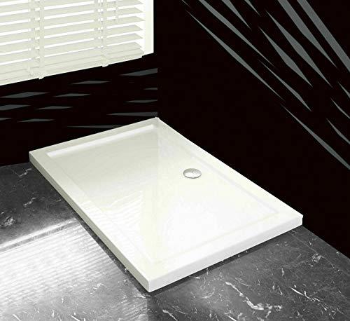 80x120 Duschtasse Duschwanne Flach Wanne H 5 cm Für Duschabtrennung Duschkabine mit Ablaufgarnitur