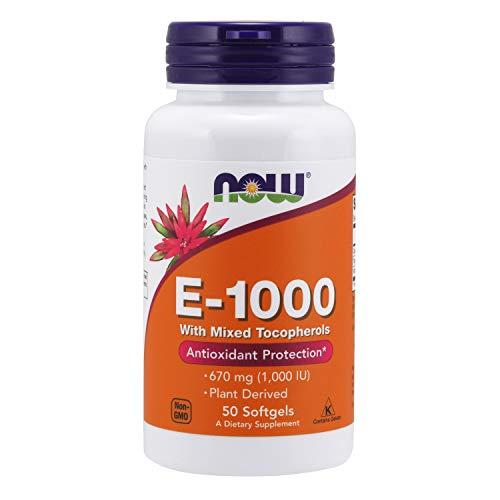 NOW Supplements, Vitamin E-1,000 IU Mixed Tocopherols, Antioxidant Protection*, 50 Softgels