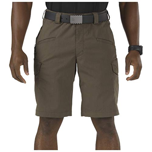 5.11 Tactical Men's Stryke 11-Inch Inseam Military Shorts, Flex-Tac Ripstop Fabric, Style 73327 Tundra, 40