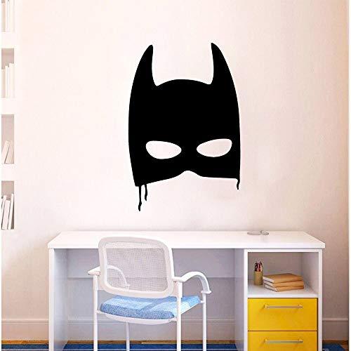 hetingyue Modern masker vleermuis muursticker decoratie sticker gezinskamer kinderkamer decoratie 30 x 44 cm