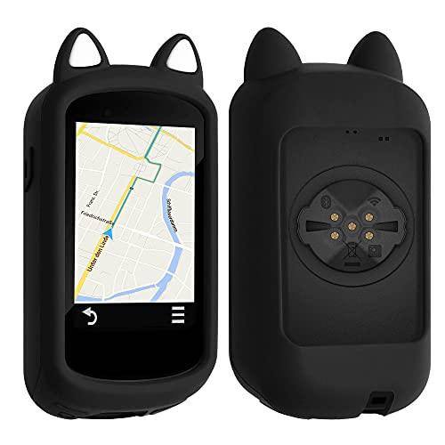 kwmobile Funda Compatible con Garmin Edge 830 - Carcasa de Suave Silicona para GPS de Bicicleta - con Gato
