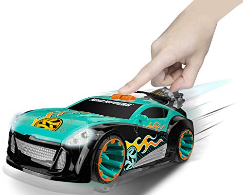 Nikko – Road Rippers Maximum Boost – Motorisiertes Spielzeug Auto mit Licht und Sound – Wheelie Auto für Kinder – 25 x 11 x 9 cm – Blau