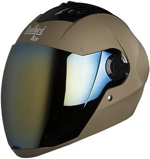 Steelbird Sba-2 Full Face Helmet(Dull Desert Storm,L)Free Transparent Visor For Night Vision(Large- 600Mm,580Mm Black Golden Visor)