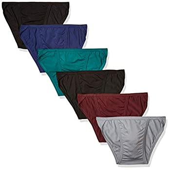 Hanes Men s Tagless Comfort Flex Fit Dyed String Bikini 6 Pack Assorted Large