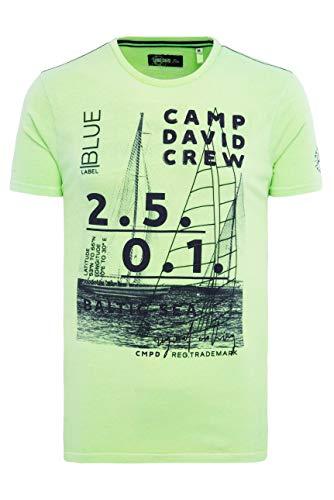 Camp David Herren Rundhalsshirt mit Photo Print