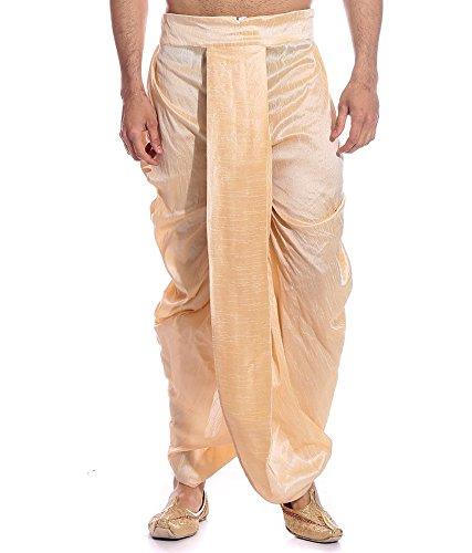 Royal Men's Gold Ryan Silk Dupion Dhoti