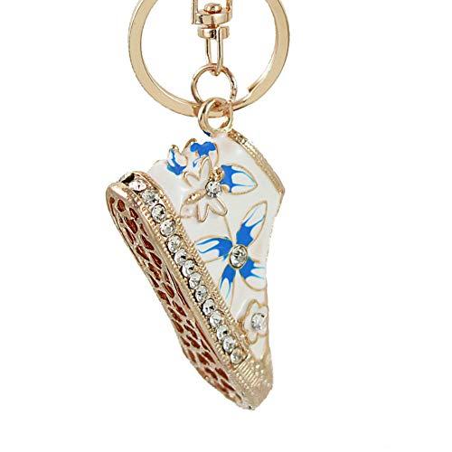 N/ A Zinklegierung Kristall Mini Blumenschuhe Autozubehör Frauen Schlüsselbund für die Schlüssel Schlüsselbund Schlüsselringe