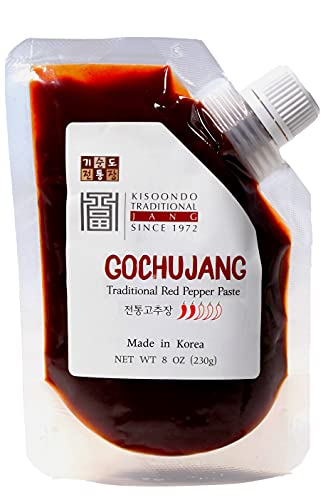 Kisoondo Gochujang (8oz) - Traditional Korean Red Chili Paste. Fermented with Organic Spices.