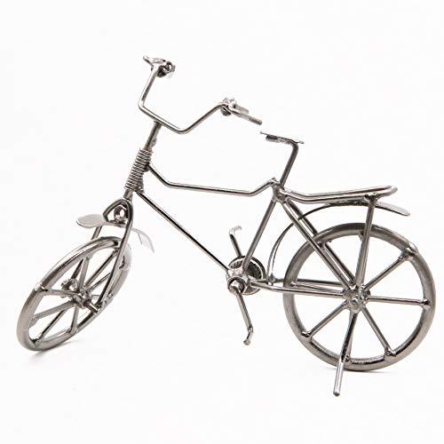 RinoDirect Adornos de Metal Vintage para Bicicleta de Escritorio, Manualidades, decoración para el hogar para niños, Juguetes y Regalos