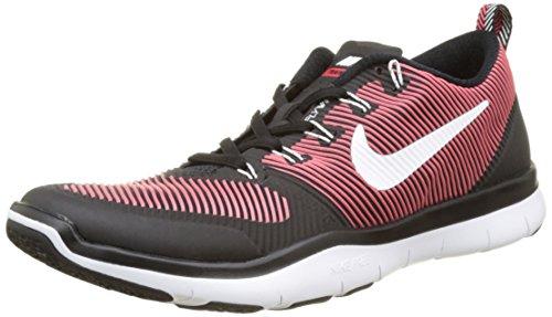 Nike Herren Free Train Versatility Trainingsschuh Laufschuhe, Mehrfarbig (Schwarz/Action-Rot/Weiß), 43 EU