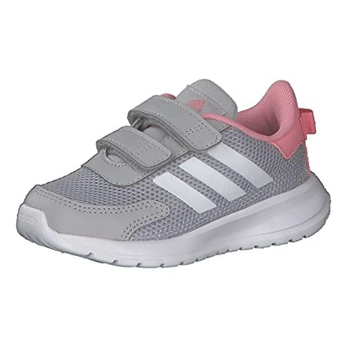 adidas Baby Girls' Tensaur Run Running Shoe, Grey Two Ftwr White Super Pop, 6.5K