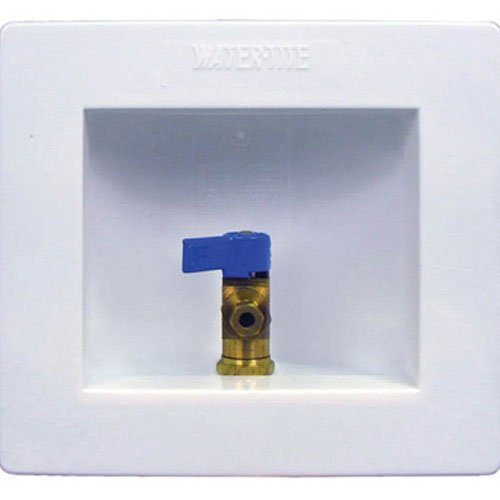 Water-Tite 82068 Econo Center Drain Washing Machine Outlet Box with Brass Valves