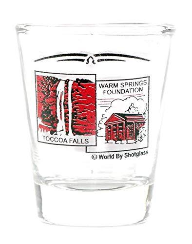 GEORGIA SCENERY RED CLASSIC DESIGN SHOT GLASS SHOTGLASS