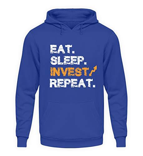 generisch EAT Sleep Invest Repeat AKTIONÄR AKTIEN BÖRSEN Investor Entrepreneur DIVIDENDEN WERTPAPIER - Unisex Kapuzenpullover Hoodie -M-Royalblau