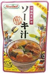 ソーキ汁 400g×3P ホーメル 沖縄の定番料理 豚の骨付きあばら肉と昆布や野菜がたっぷり入ったスープ 沖縄土産にもおすすめ